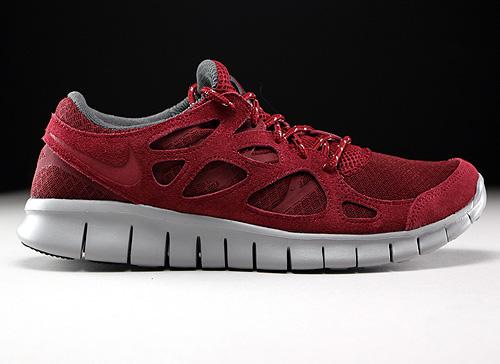 71a159dfdb40 Nike Free Run 2 donkerrood grijs donkergrijs