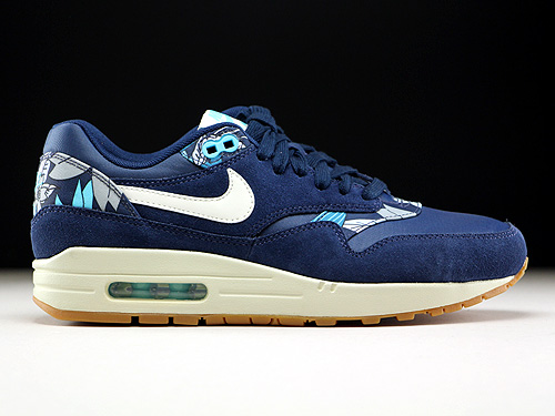 Nike WMNS Air Max 1 Print Midnight Navy Sail Tide Pool Blue