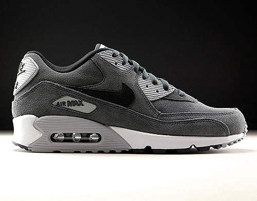 superior quality f5d74 63f66 Nike Air Max 90 Leather donkergrijs grijs zwart wit 652980-012