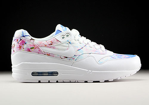 Nike WMNS Air Max 1 Print White White University Blue 528898