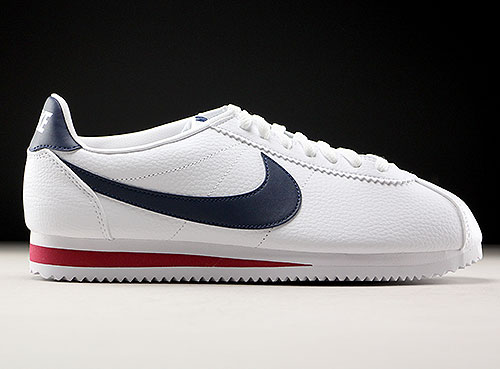 huge selection of 59671 839f0 Nike Classic Cortez Leather wit donkerblauw rood