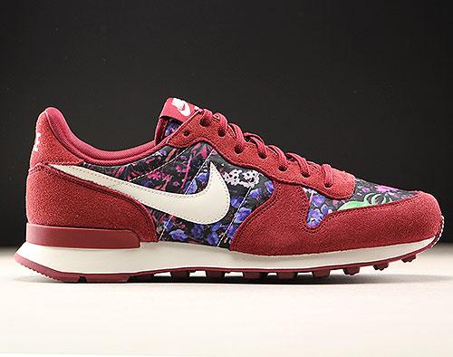 reputable site 17fff 7fdc9 Nike WMNS Internationalist Premium Donkerrood Floral 828404-601