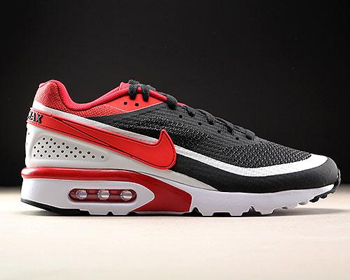 nike air max classic bw zwart rood