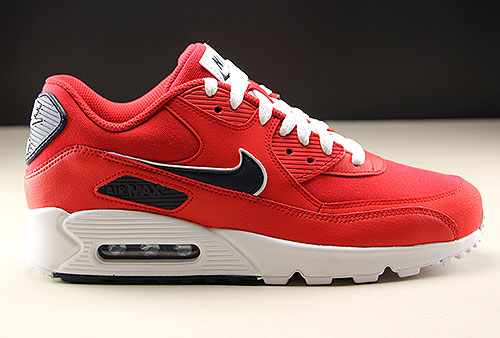 Nike Air Max 90 Essential Rood Wit Donkerblauw Purchaze