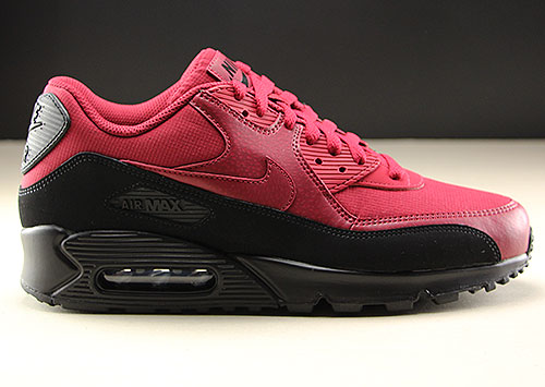 Nike Air Max 90 Essential Zwart Donkerrood Purchaze