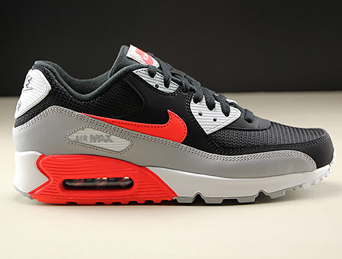 the latest 38460 b8021 Nike Air Max 90 Essential Zwart Grijs Rood Wit AJ1285-012