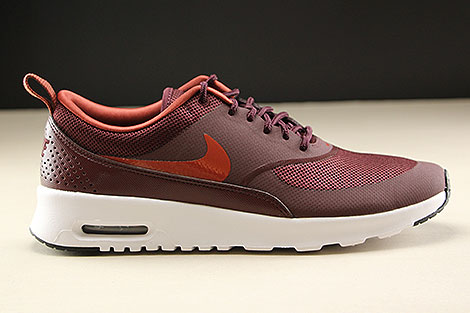 Nike Air Max Thea Burgundy Leather Sneakers NWT | Nike shoes