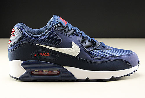 Nike Air Max 90 Essential Donkerblauw Wit Rood Purchaze