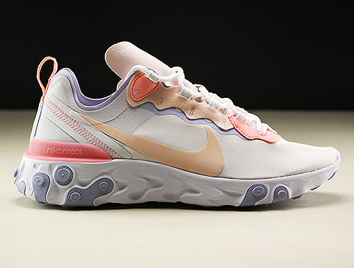Nike WMNS React Element 55 Pale Pink Washed Coral BQ2728 601