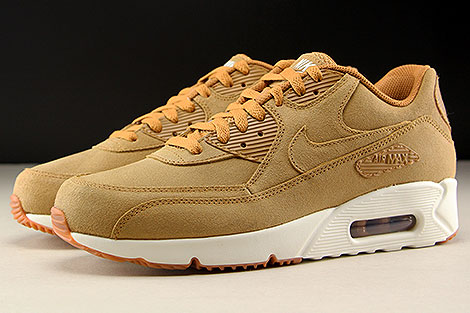 350d0fe237 ... Nike Air Max 90 Ultra 2.0 LTR Flax Sail Gum Medium Brown Seitenansicht  ...