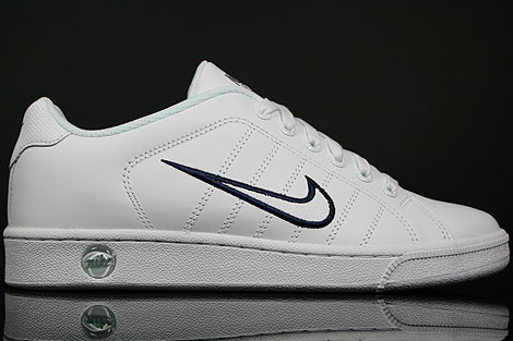 Nike Court Tradition 2 White Stealth Obsidian Blue
