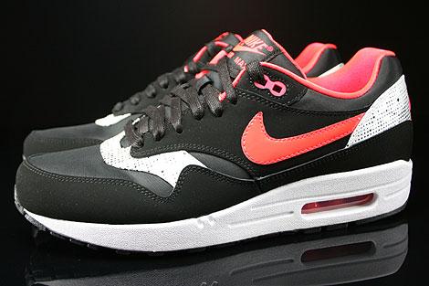 nike air max 1 zwart laser crimson white