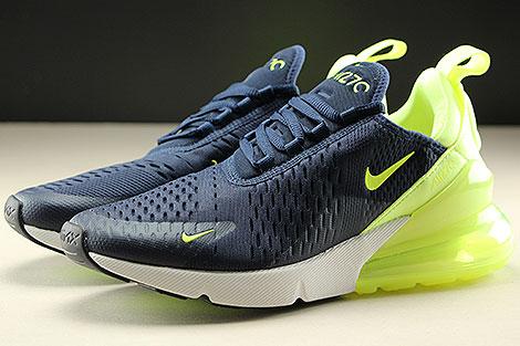 Nike Womens Air Max 270 Donkerblauw Neongeel Purchaze