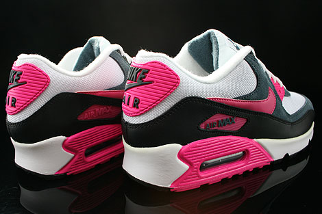 nike air max 90 black white and pink
