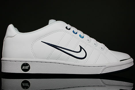 Nike Court Tradition 2 White Obsidian Blue